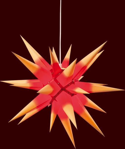 adventsstern f r innen gelb rot 60 cm mit beleuchtung. Black Bedroom Furniture Sets. Home Design Ideas