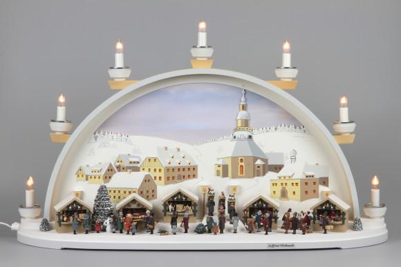 Schwibbogen Seiffener Weihnachtsmarkt limitiert