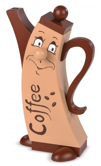 Moderne Räucherfigur Kaffeekanne