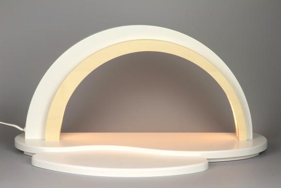 Holz Design LED Schwibbogen, weiß