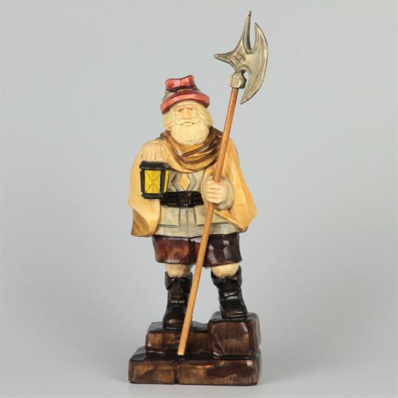 Geschnitzter Nachtwächter farbig, 33 cm