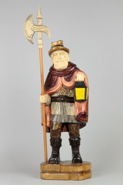 Geschnitzter Nachtwächter farbig, 65 cm