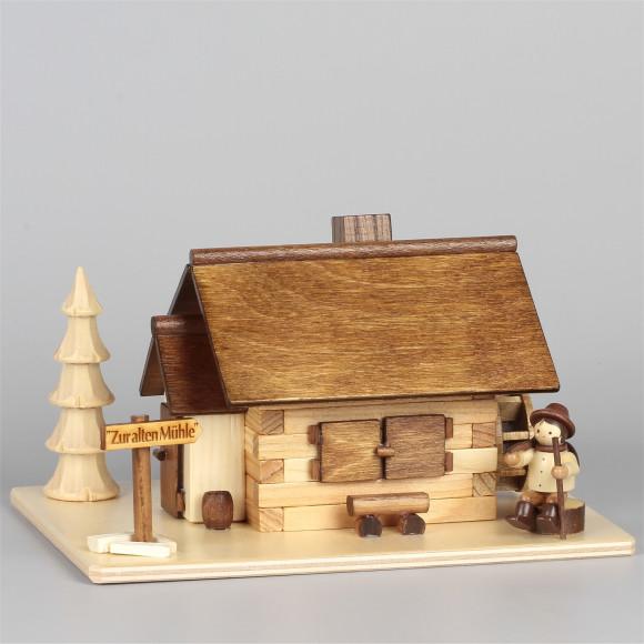 Räucherhaus Zur alten Mühle mit Waldarbeiter