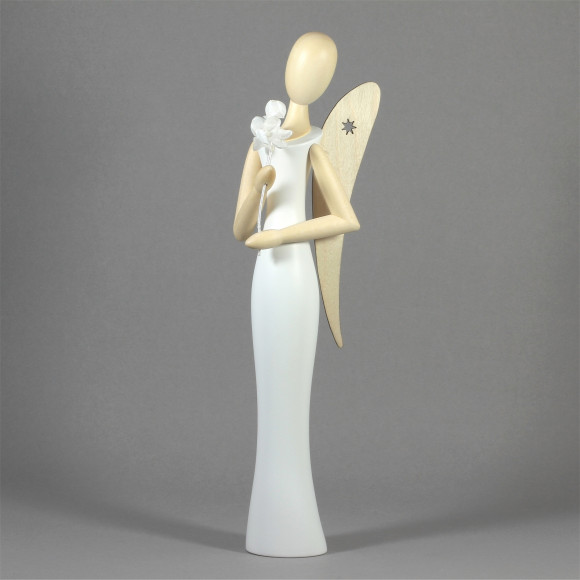 Sternkopf-Engel mit Kirschzweig, 50 cm