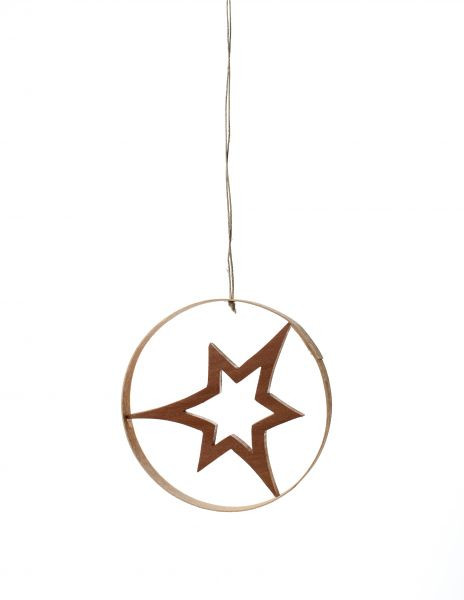 Baumbehang Holzdekor Stern