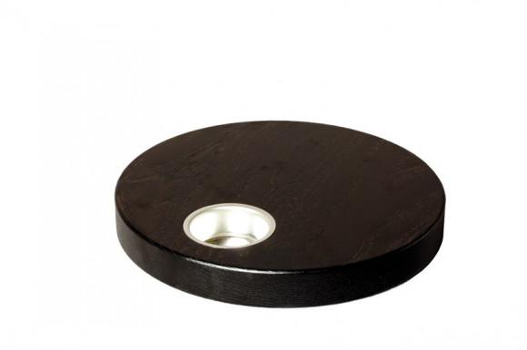 Teelichthalter 22,5 cm dunkel