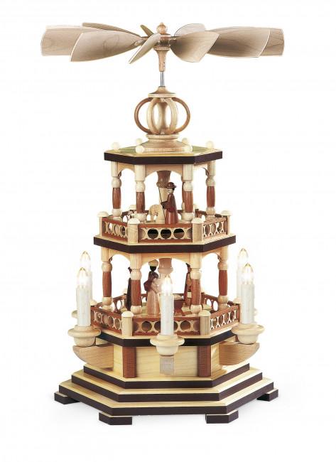 Pyramide Heilige Geschichte 2-stöckig, elektrisch