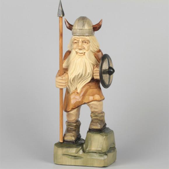 Geschnitzter Wikinger farbig, 29 cm