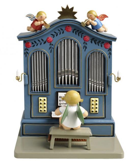 Orgel mit Musik O du fröhliche