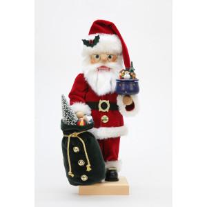 Nussknacker Weihnachtsmann mit Spieldose