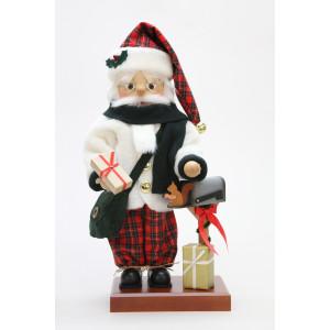 Nussknacker Weihnachtsmann Schottenkaro