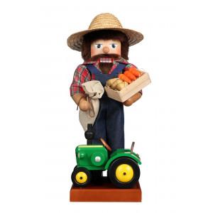 Nussknacker Farmer mit Traktor