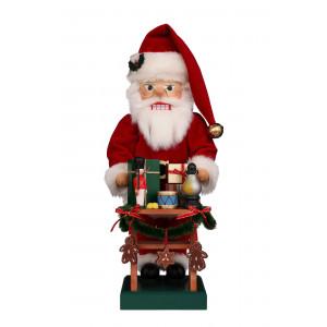 Nussknacker Weihnachtsmann mit Gabentisch