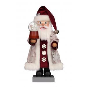 Nussknacker Weihnachtsmann mit Schneekugel