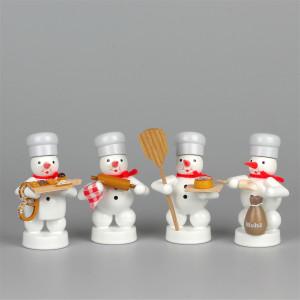 Schneemänner Weihnachtsbäckerei, 4-teilig