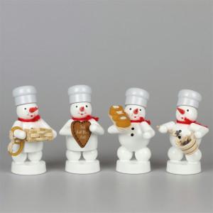 Schneemänner Weihnachtsbäckerei 2, 4-teilig