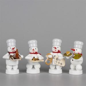 Schneemänner Weihnachtsbäckerei 4, 4-teilig