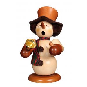 Räuchermännchen Schneemann mit Glocke natur