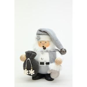 Räuchermännchen Weihnachtsmann grau