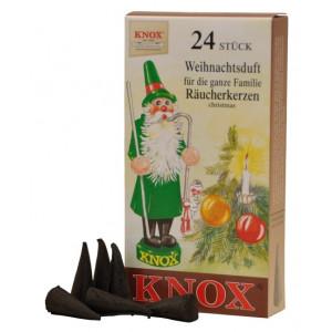 Räucherkerzen  - Klassisch Weihnachtsduft 35g, 24 Stk. Packung