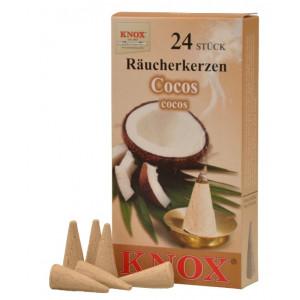 Räucherkerzen  - Gewürze - Cocos 35g, 24 Stk. Packung