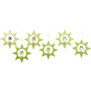 Baumbehang Engel im Stern, 6-teilig