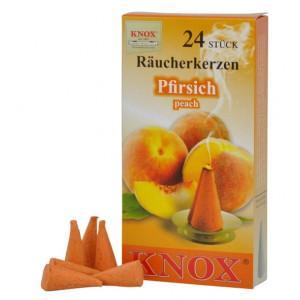 Räucherkerzen  -  Pfirsisch 35g, 24 Stk. Packung