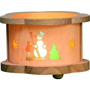 Teelichtlaterne Schneemann