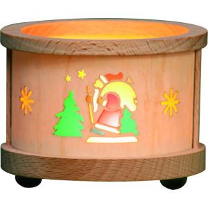 Teelichtlaterne Weihnachtsmann