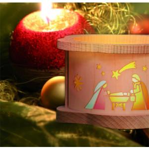 Teelichtlaterne Heilige Familie