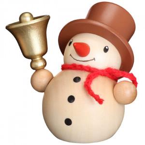 Schneemann mit Glocke, natur