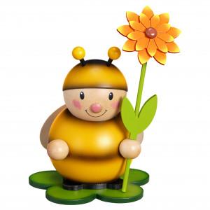 Hummel mit Blume links groß
