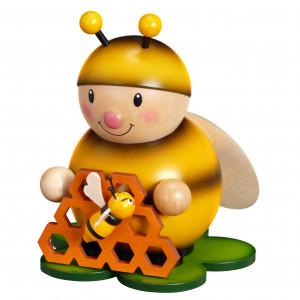 Hummel mit Honigwabe groß