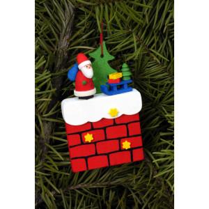 Baumbehang Kamin mit Weihnachtsmann