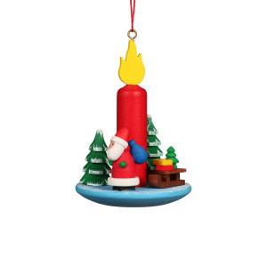 Baumbehang Kerze mit Weihnachtsmann