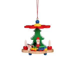 Baumbehang Pyramide mit Weihnachtsmann