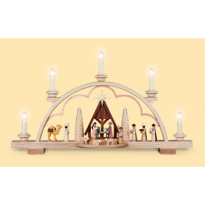 Schwibbogen Christi Geburt mit Krippe, 120 Volt
