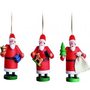 Baumbehang Weihnachtsmann, 3-teilig