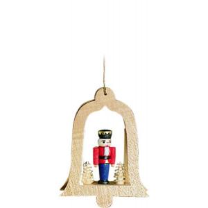 Baumbehang Glocke natur Nussknacker König mit Baum
