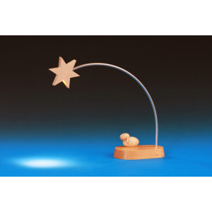 Stern mit LED Beleuchtung und Lamm für Krippe