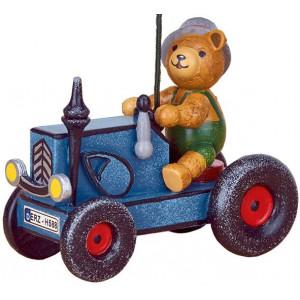 Baumbehang Traktor mit Teddy