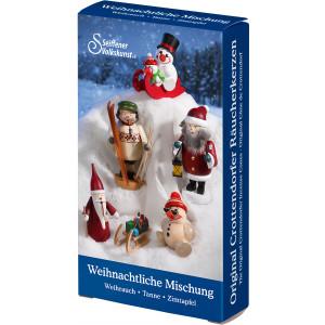 Crottendorfer Räucherkerzen Weihnachtliche Mischung 24 Stück