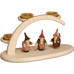 Leuchterbogen für Teelichter Motiv Gnome