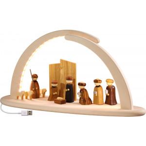 LED-Leuchterbogen mit Christi Geburt, groß