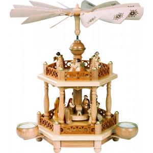 Teelichtpyramide 1-stöckig Christi Geburt