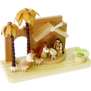 Kerzenhalter mit Krippe Christi Geburt orientalisch