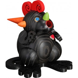 Kugelräuchermännchen Räucherdrache Schwarzes Drachenherz