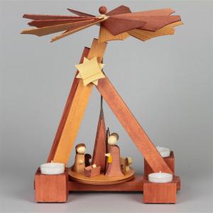 Pyramide Modern Line Christi Geburt Rosenholz