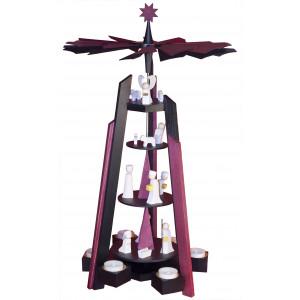 Ulmik Pyramide Christi Geburt schwarz 4-stöckig