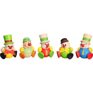 Baumbehang Kugelfiguren Clowny, 5-teilig